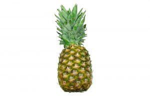 pineapple exotic fruit isolated on white background