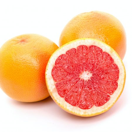 three grapefruits