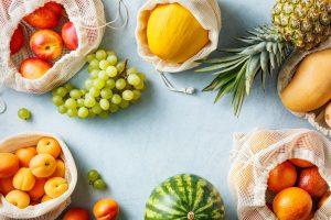 Various organic fruits